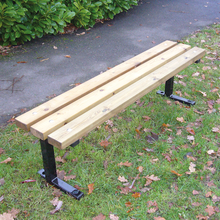 Outdoor Wooden Backless Bench  large