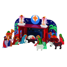 Deluxe Wooden Nativity Set  medium