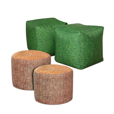Grass Cubes & Tree Stumps Beanbag Offer  large