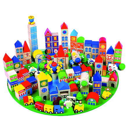 Small World Wooden City Blocks  large