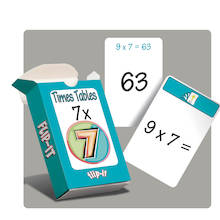 Flip-It Quick Fire 7 Times Table Cards  medium