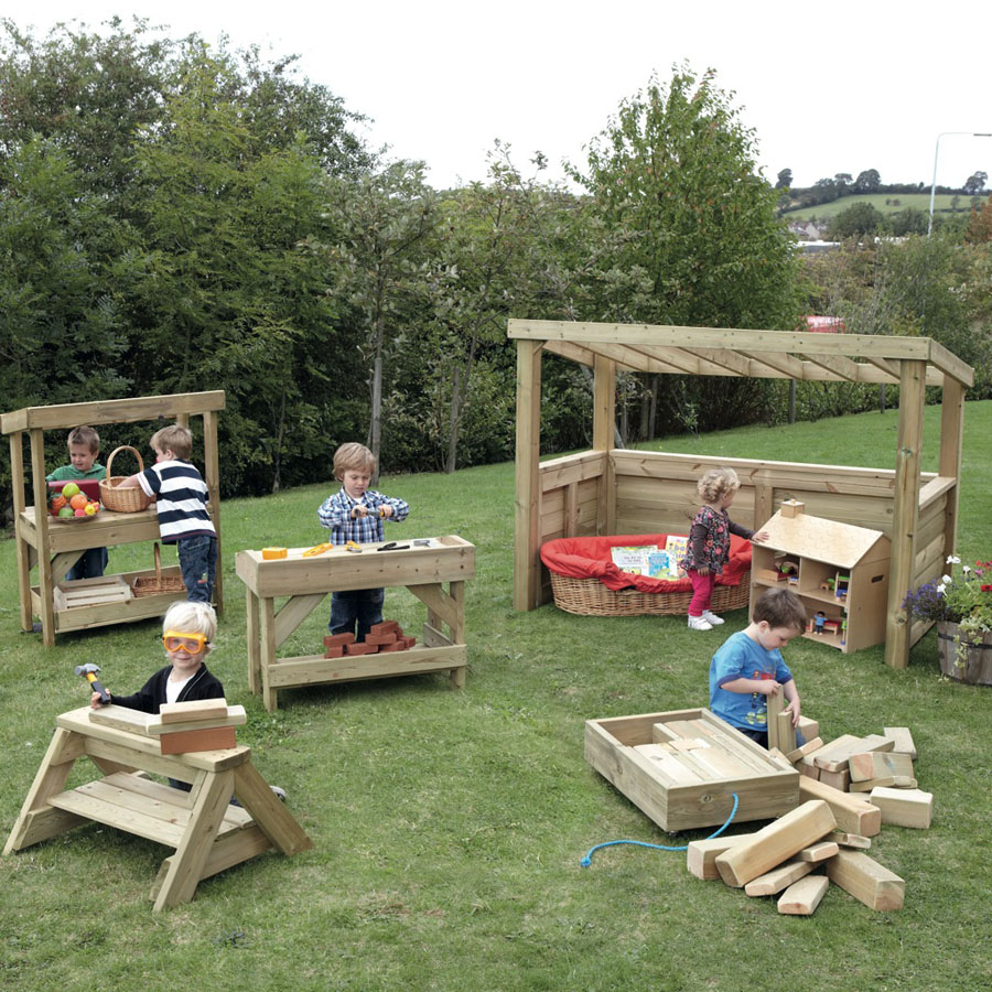 Buy Outdoor Wooden Play Furniture Selection Tts