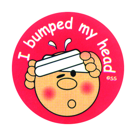 I Bumped My Head Stickers 250pk  large