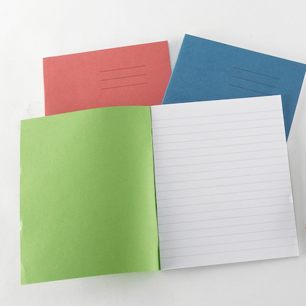 8 x 6.5'' 32 pages 100pk Exercise Books  large