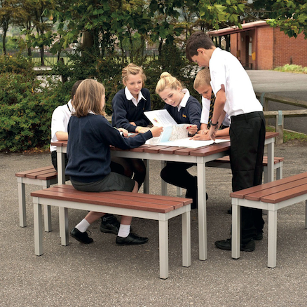 Outdoor Tables and Benches Set  large