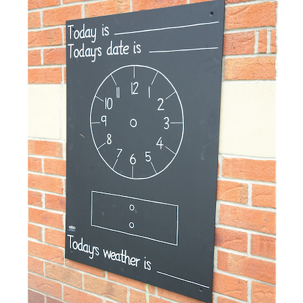 Telling the Time Chalkboard W66 x H95cm  large