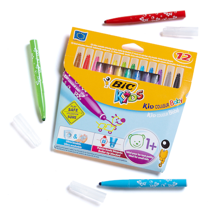 BIC Baby Fibre Tipped Assorted Pens 12pk  large