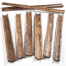 Natural Wooden Water Channelling 8pk  medium