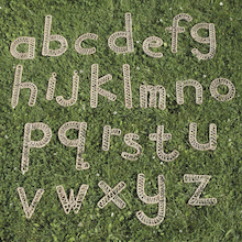 Large Sea Grass Weaving Alphabet Set A-Z  medium