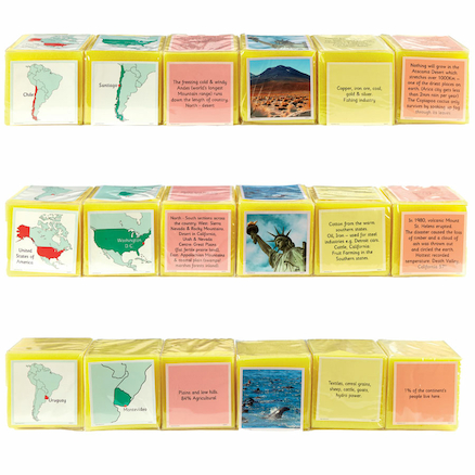 Pocket Dice Cards North and South America  large