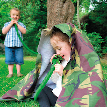 Outdoor Camouflage Telephone and Tube Set 2pk  medium