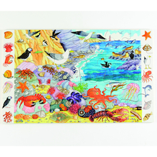 Forest and Sealife Floor Jigsaw Puzzle  medium