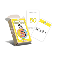 Flip-It 5 Times Table Activity Cards  medium