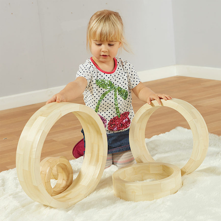 Wooden Nesting Rings 5pk  large