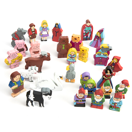 Wooden Fairy Tale Characters 29pk  large