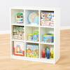 Basic White Nine Compartment Bookcase  small
