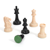 Large Plastic Garden Chess Game with Board  small