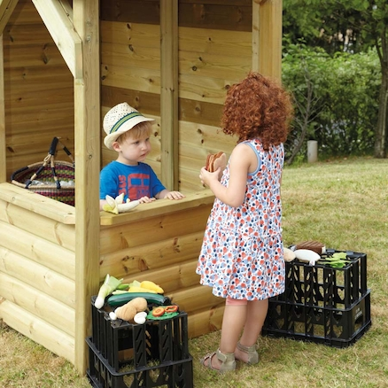 Outdoor Wooden Role Play House and Storage Centre  large