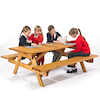 Rectangular Junior Height Picnic Bench  small