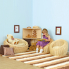 Three Piece Wicker Sofa and Chairs Set  small