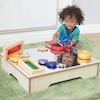 Toddler Wooden Mirror Table 66 x 51cm  small