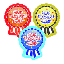 Headteacher Award Rosette Stickers 120pk  medium
