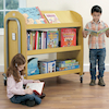Double Sided Library Trolley with Display Shelf  small