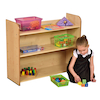 Three Shelf One-Sided Maple Bookcase  small