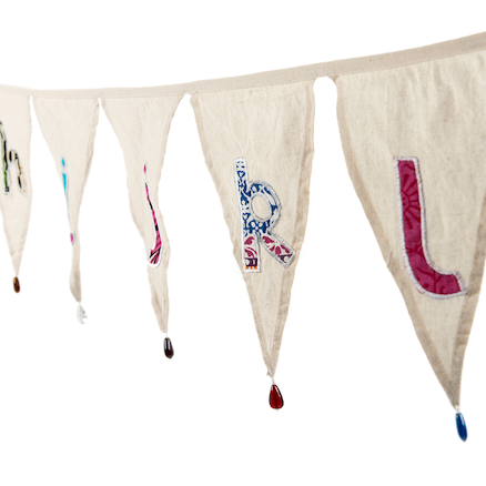 Fairtrade Cotton Alphabet Bunting Lowercase  large