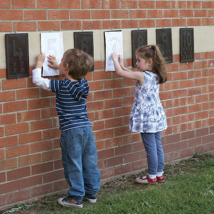 Outdoor Maths Number Rubbing Boards 1-10  large