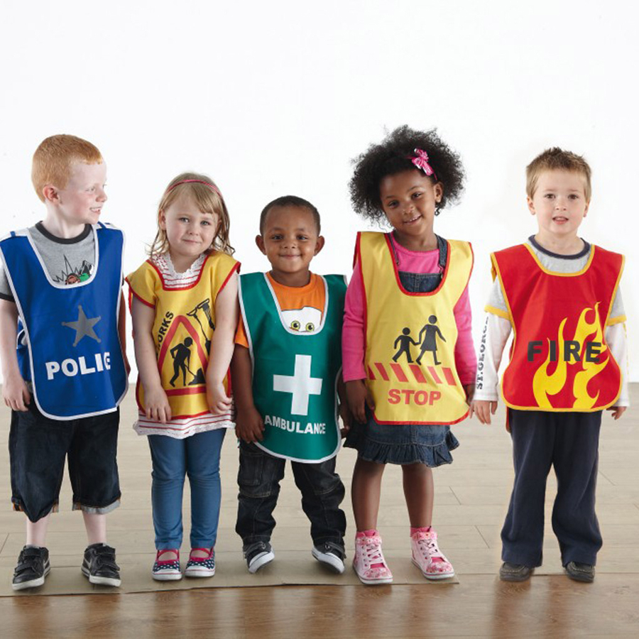 Buy Traffic And Emergency Dress Up Tabards 5pk Tts