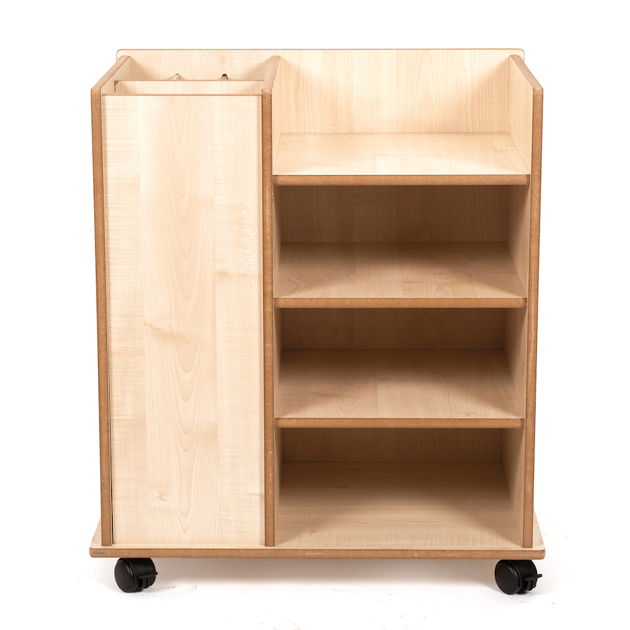 Buy poster paper wooden storage unit tts