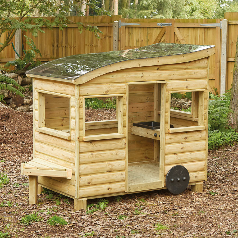 Buy Outdoor Wooden Role Play Caravan Tts