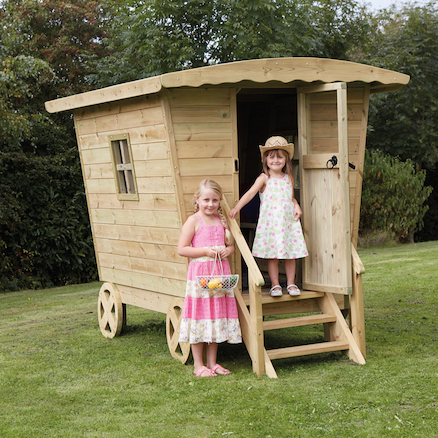 Outdoor Wooden Rustic Caravan  large