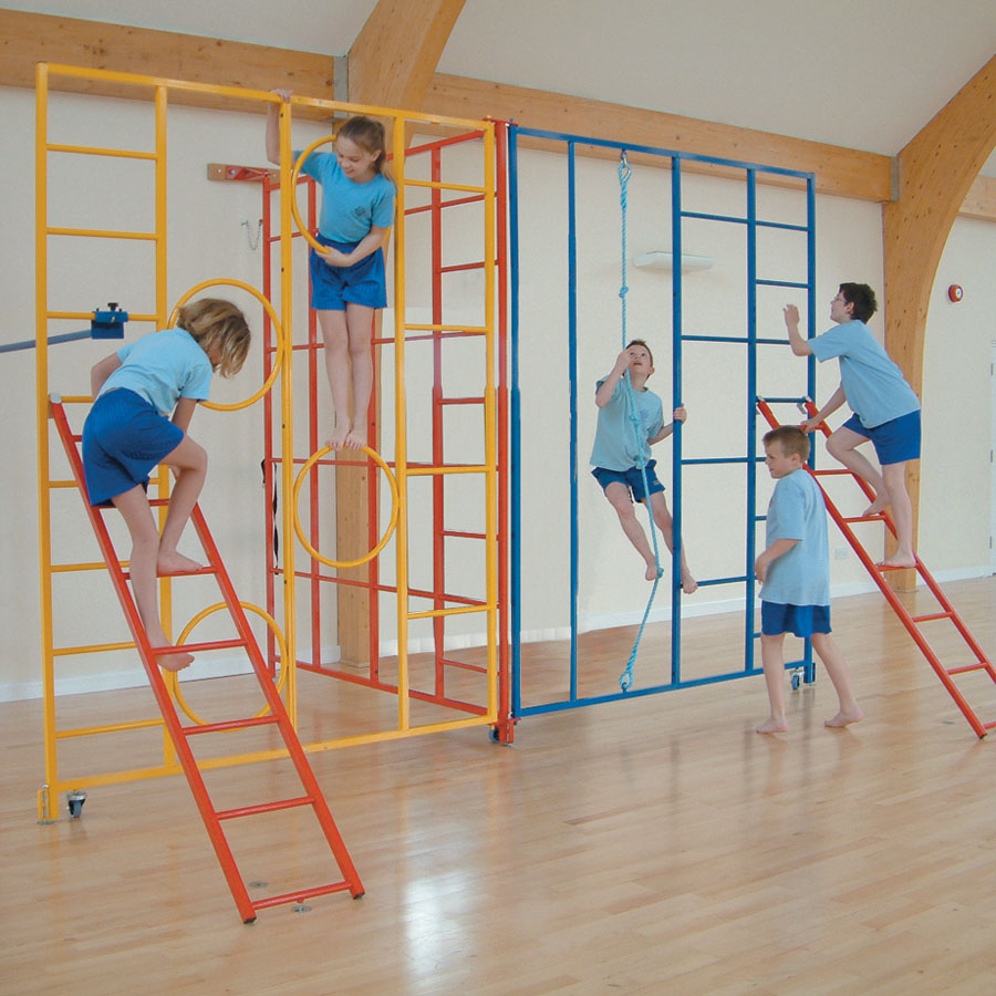 Buy 3 Piece Steel Gym Climbing Frame Tts