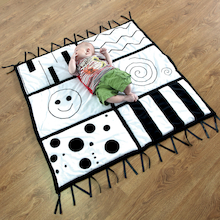 Baby Black and White Soft Play Mat  medium