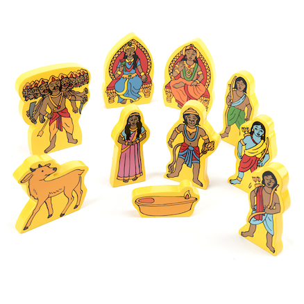 Story of Rama and Sita Wooden Pieces  large