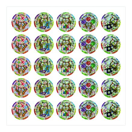 Sparkly Maths Stickers 250pk  large