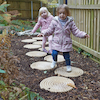 Outdoor Stepping Stones 10pk  small