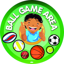 Ball Game Area Playground Sign  medium
