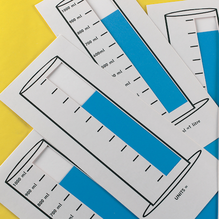 Show It Measuring Cards Bulk Pack  large