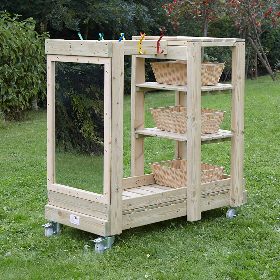 Buy Wooden Outdoor Role Play Dress Up Storage Unit Tts