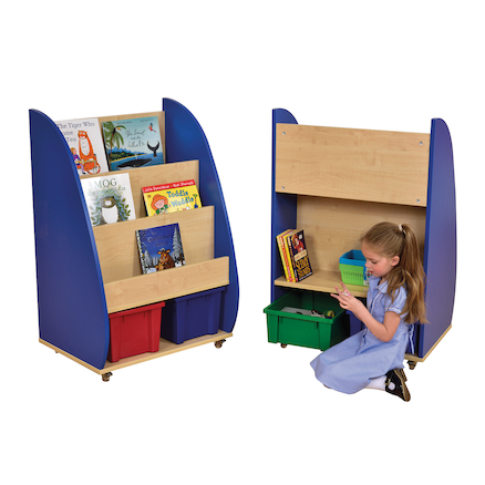 Double Sided Mobile Bookcase  large