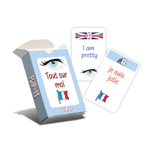 Flip-It All About Me French Cards  medium