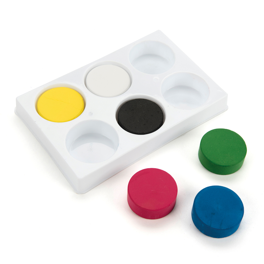 Buy Assorted Tempera 6 Paint Blocks And Palette Tts