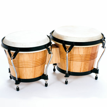 Wooden Shell Bongos With Raised Feet  large