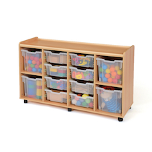 Safe Sturdy Storage Tray Unit 4 Jumbo Trays  medium