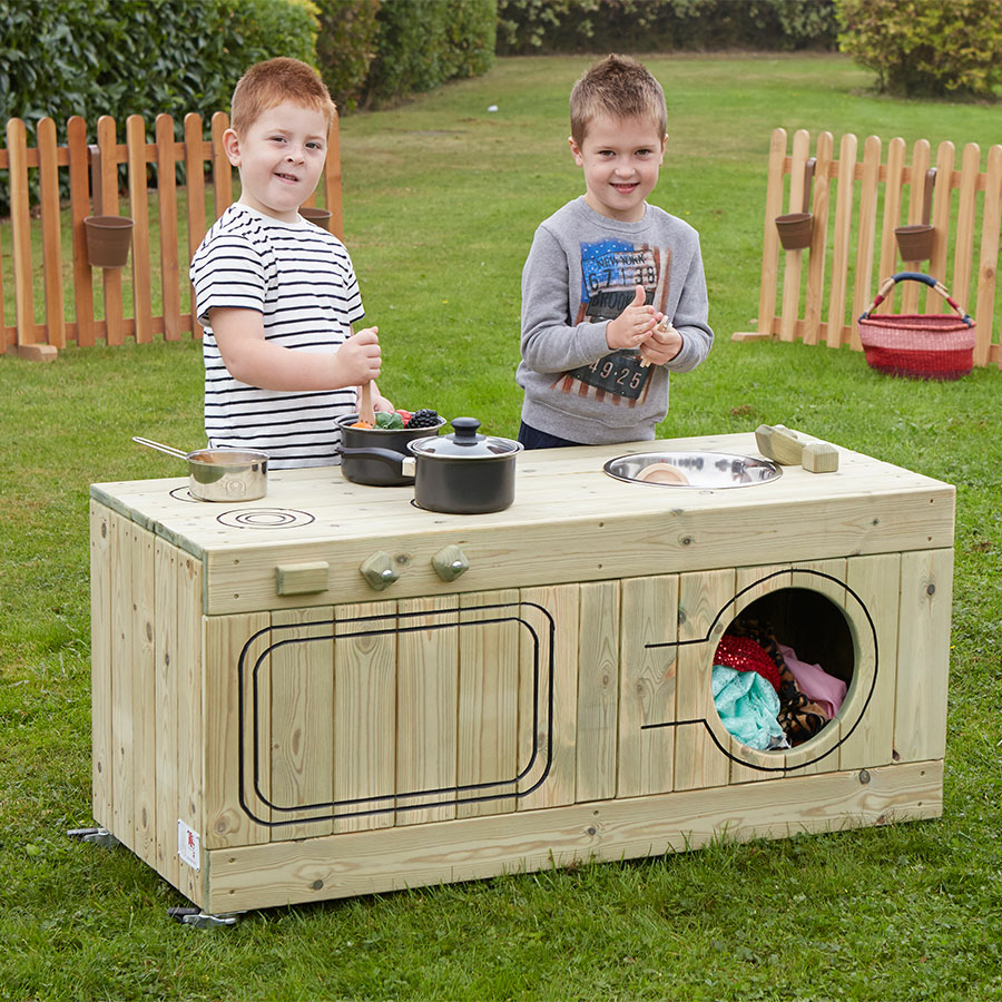 buy outdoor wooden role play kitchen centre tts. Black Bedroom Furniture Sets. Home Design Ideas