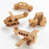 Wooden Vehicles 4pk  small