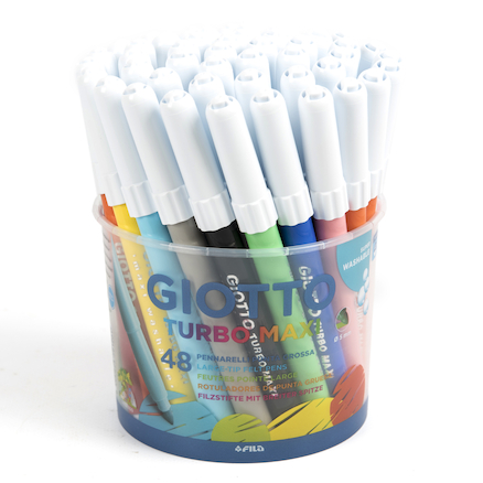 Giotto Turbo Maxi Broad Tip Pens 48pk  large